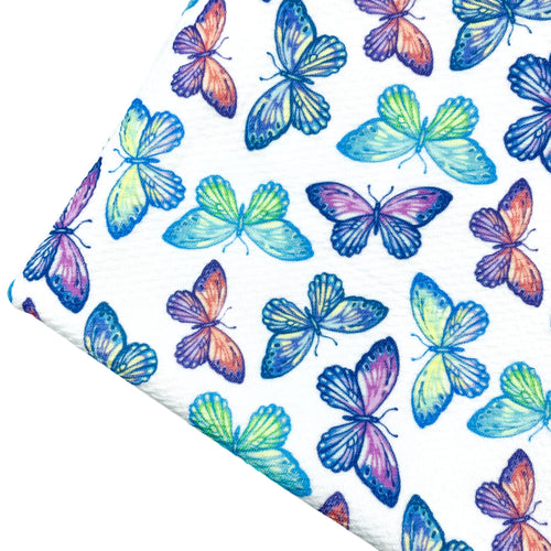 BEAUTIFUL BUTTERFLIES - Custom Printed Bullet Liverpool Fabric