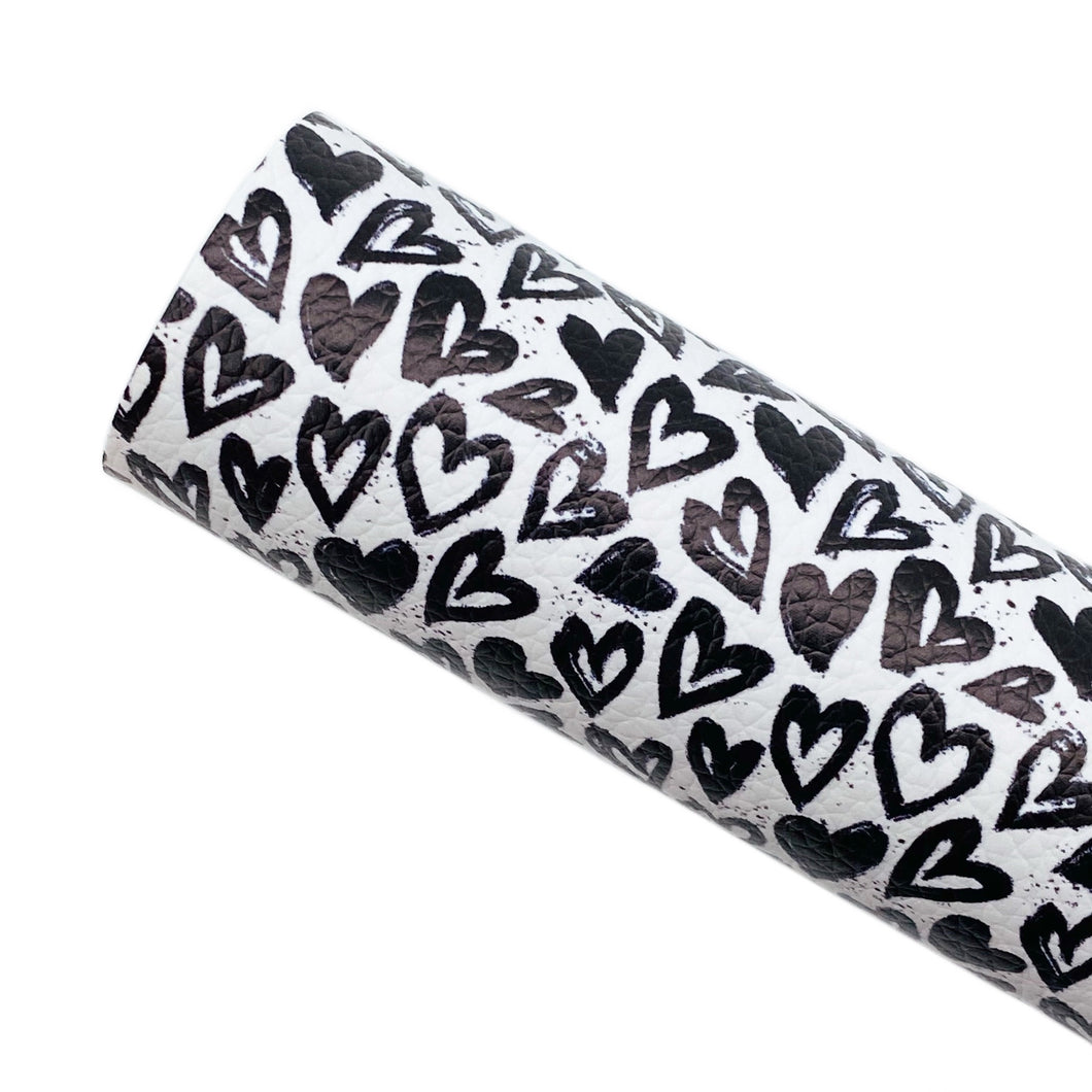 GRAFFITI HEARTS - Custom Printed Leather