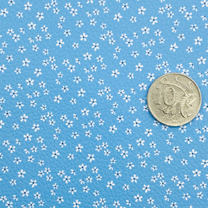 BLUE BLOSSOMS - Custom Printed Leather