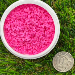 PINK BOWS - Clay Sprinkles (10g)