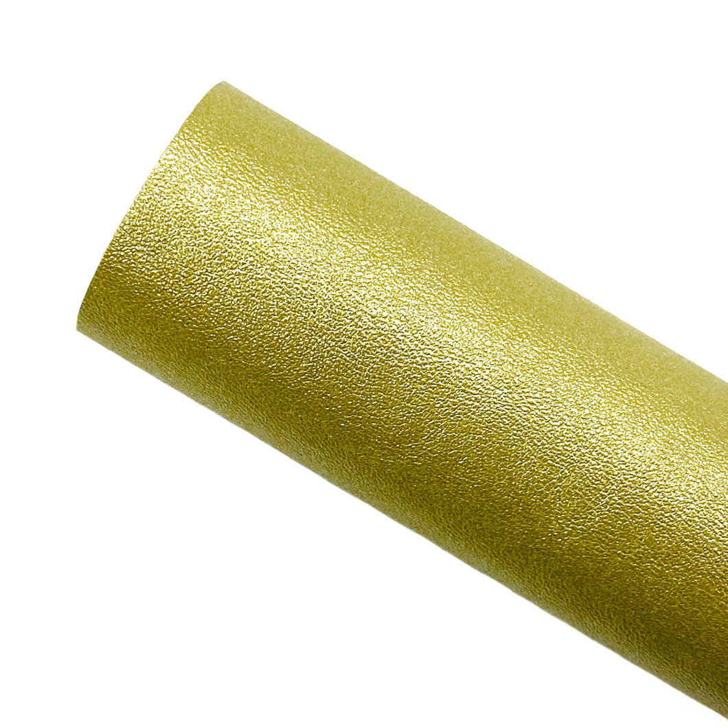 GOLD METALLIC SHIMMER - Faux Leather