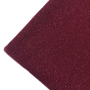 BURGUNDY GOLD DUST - Bullet Liverpool Fabric