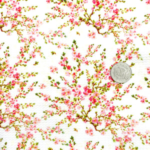CHERRY BLOSSOMS - Custom Printed Bullet Liverpool Fabric