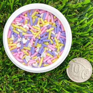 SPRING HEART MIX - Clay Sprinkles (10g)