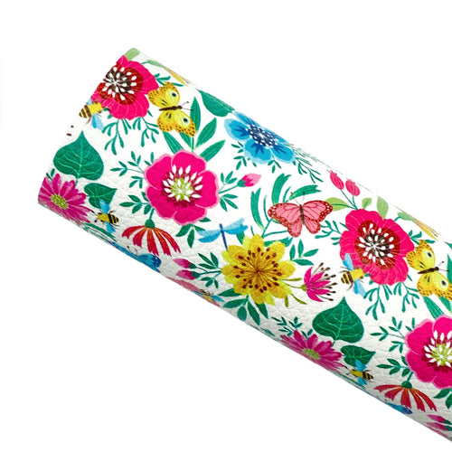 *PRE-ORDER* SPRING GARDEN - Custom Printed Leather