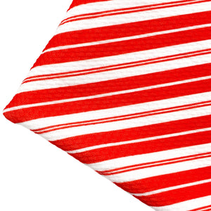 CANDY CANE STRIPE - Custom Printed Bullet Liverpool Fabric