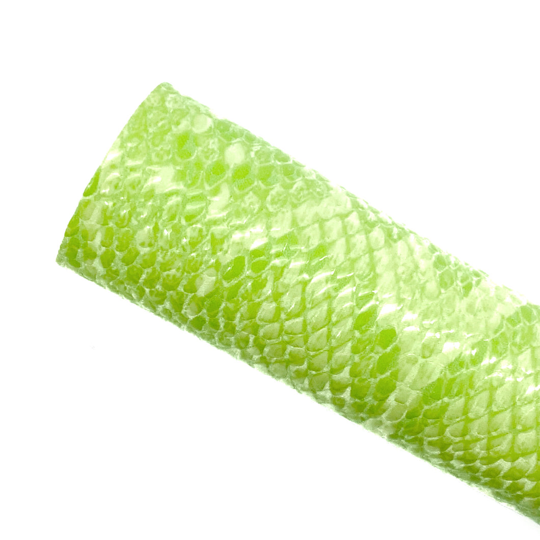 LIME SNAKE SKIN - Faux Leather