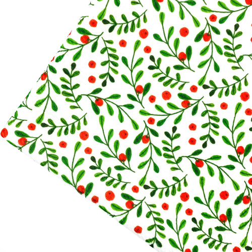 MERRY MISTLETOE - Custom Printed Bullet Liverpool Fabric