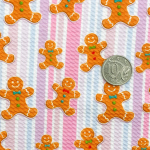 SWEET GINGERBREAD - Custom Printed Bullet Liverpool Fabric