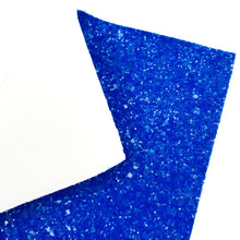 BLUE SUGAR CRUSH - Chunky glitter fabric