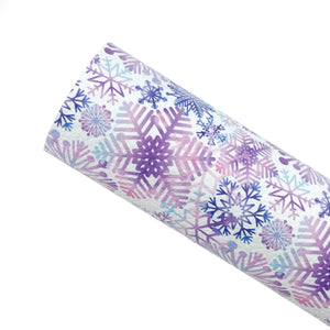 ***PRE-ORDER*** SNOWFLAKE WONDERLAND - Custom Printed Leather
