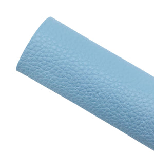 BABY BLUE - Litchi Leather
