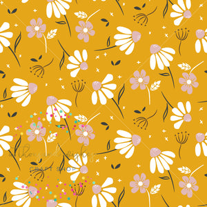 AUTUMN CHAMOMILE - Custom Printed Bullet Liverpool Fabric