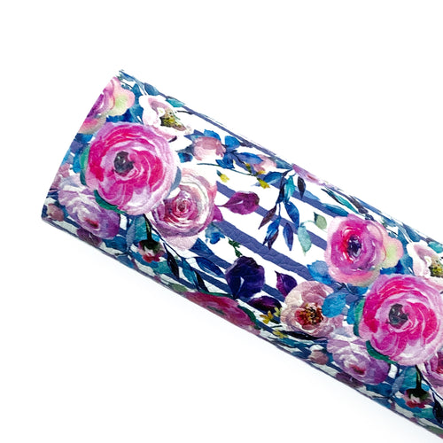 LOVELY BOUQUETS -  Custom Printed Leather