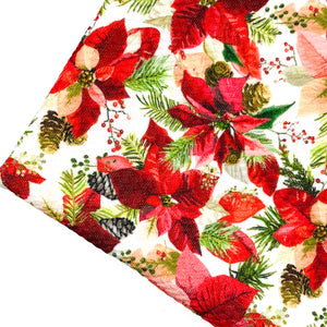CLASSIC POINSETTIA - Custom Printed Bullet Liverpool Fabric