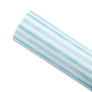 AQUA WATERCOLOUR STRIPES - Custom Printed Leather