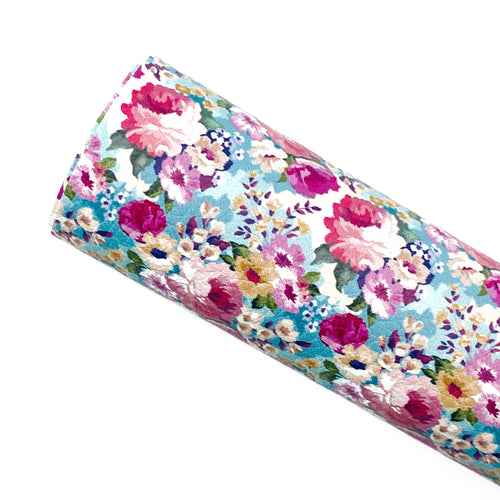 *PRE-ORDER*  VINTAGE FLORAL - Custom Printed Leather