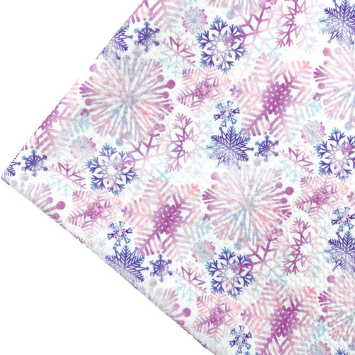 SNOWFLAKE WONDERLAND - Custom Printed Bullet Liverpool Fabric