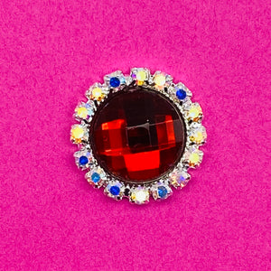 RUBY (ROUND) - Rhinestone Embellishments (20mm)