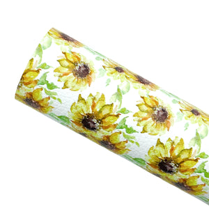 *PRE-ORDER*  SUNFLOWER FIELDS - Custom Printed Leather