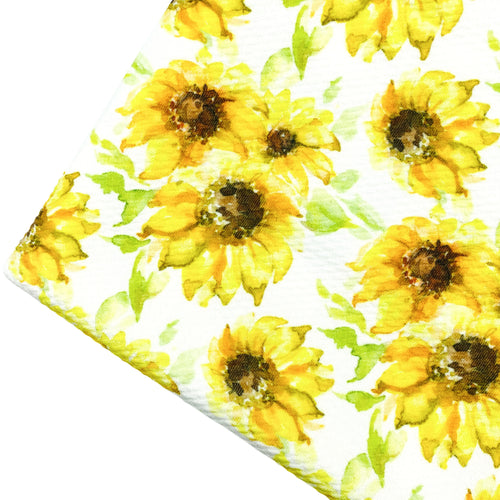 SUNFLOWER FIELDS - Custom Printed Bullet Liverpool Fabric