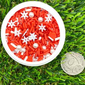 RED & WHITE CHRISTMAS MIX - Clay Sprinkles (10g)