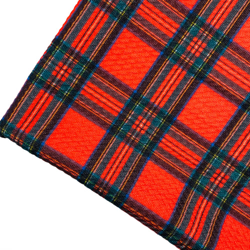CHRISTMAS TARTAN - Custom Printed Bullet Liverpool Fabric