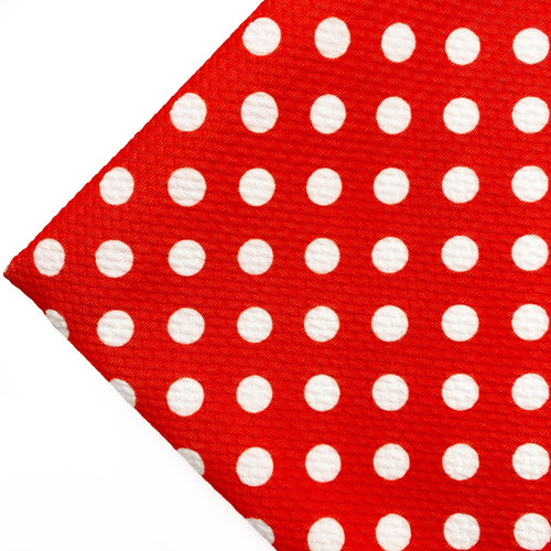 RED POLKA DOT - Custom Printed Bullet Liverpool Fabric