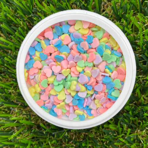 PASTEL HEARTS - Clay Sprinkles (10g)