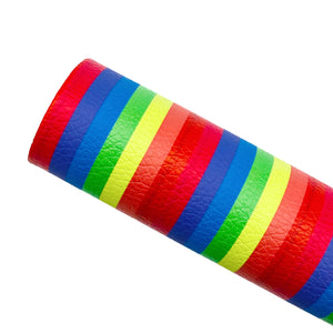 RAINBOW STRIPES - Custom Printed Leather