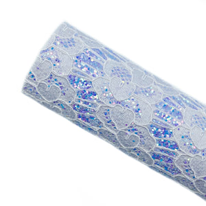 LAVENDER LOVELY LACE - Glitter Fabric