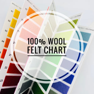 Reserved Listing for JC - 100% wool felt chart