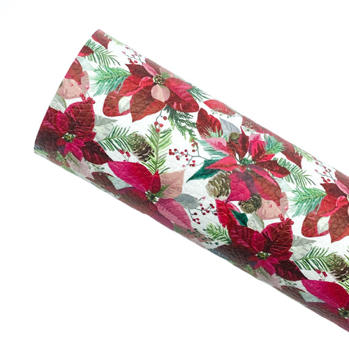 *PRE-ORDER* CLASSIC POINSETTIAS - Custom Printed Leather