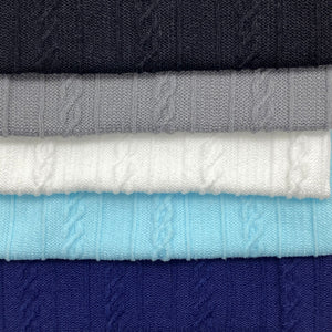 WINTER COLOURS - Cable Knit Nylon Strips