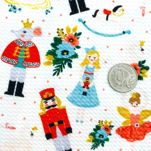 THE NUTCRACKER BALLET (WHITE) - Custom Printed Bullet Liverpool Fabric