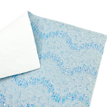 BLUE LOVELY LACE - Glitter Fabric