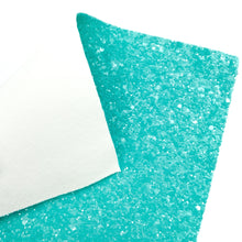 TURQUOISE SUGAR CRUSH - Chunky glitter fabric