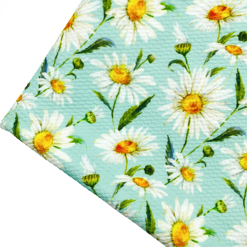 DAISIES - Custom Printed Bullet Liverpool Fabric