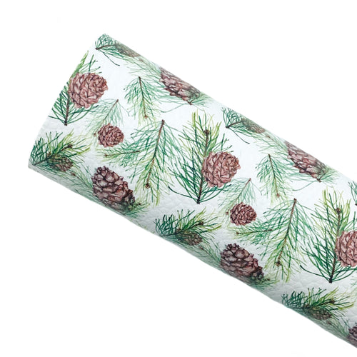 FESTIVE PINECONES - Custom Printed Leather