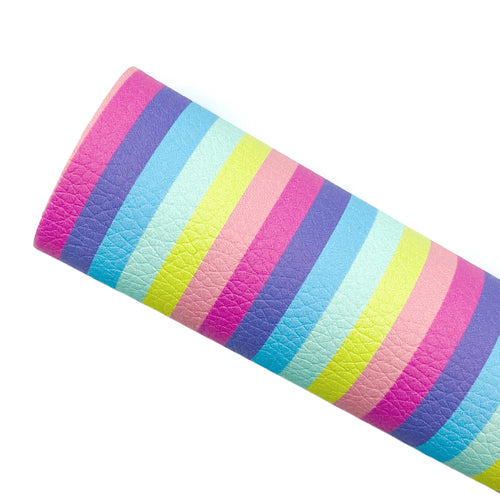 PASTEL STRIPES - Custom Printed Leather