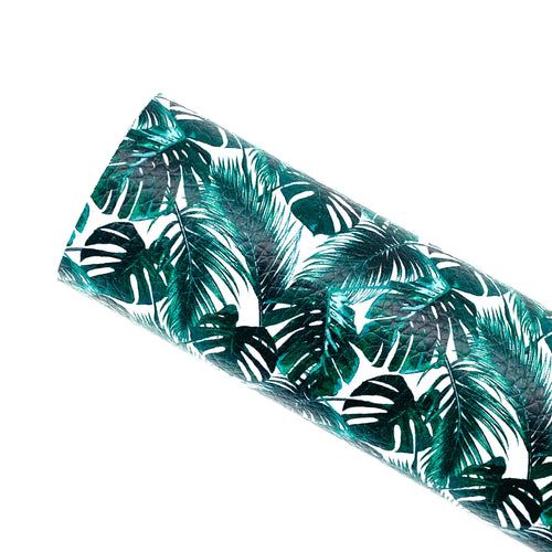 *PRE-ORDER* MONSTERA PALM LEAVES - Custom Printed Leather