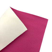 HOT PINK - Litchi Leather