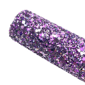 PURPLE FANTASY - Chunky glitter fabric