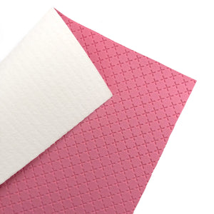 STRAWBERRY PINK - Embossed Cross Leather