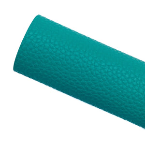 SEA GREEN - Litchi Leather