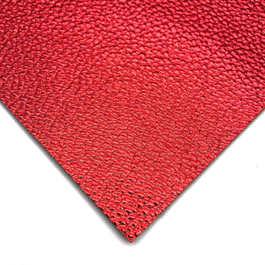 METALLIC RED - Soft Litchi Leather