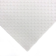 WHITE - Embossed Cross Leather