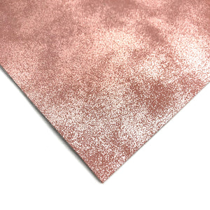 ROSE PINK DISTRESSED METALLIC - Faux Leather