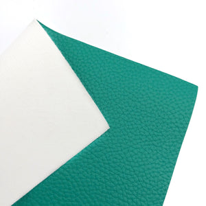 TEAL - Litchi Leather