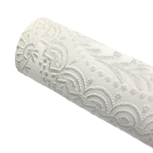 STONE - Embossed Lace Appliqué Leather